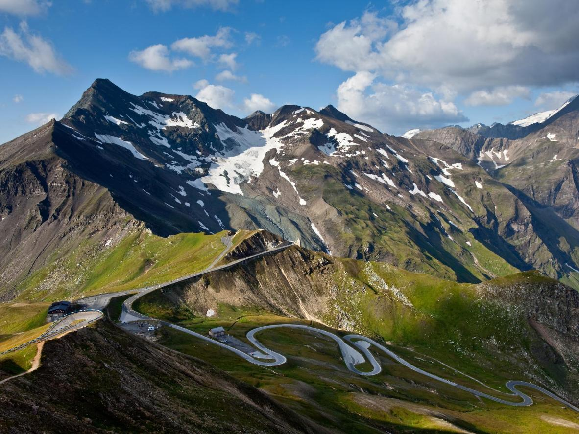 This Austrian Alpine road has 36 hairpin bends and rises 2,504 metres above sea level