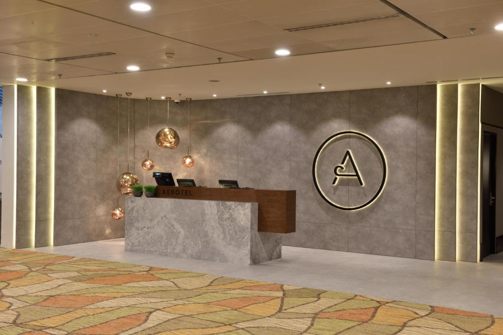 ล็อบบี้หรือแผนกต้อนรับของ Aerotel Transit Hotel, Terminal 1