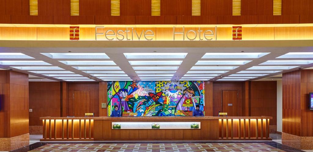 ล็อบบี้หรือแผนกต้อนรับของ Resorts World Sentosa - Festive Hotel