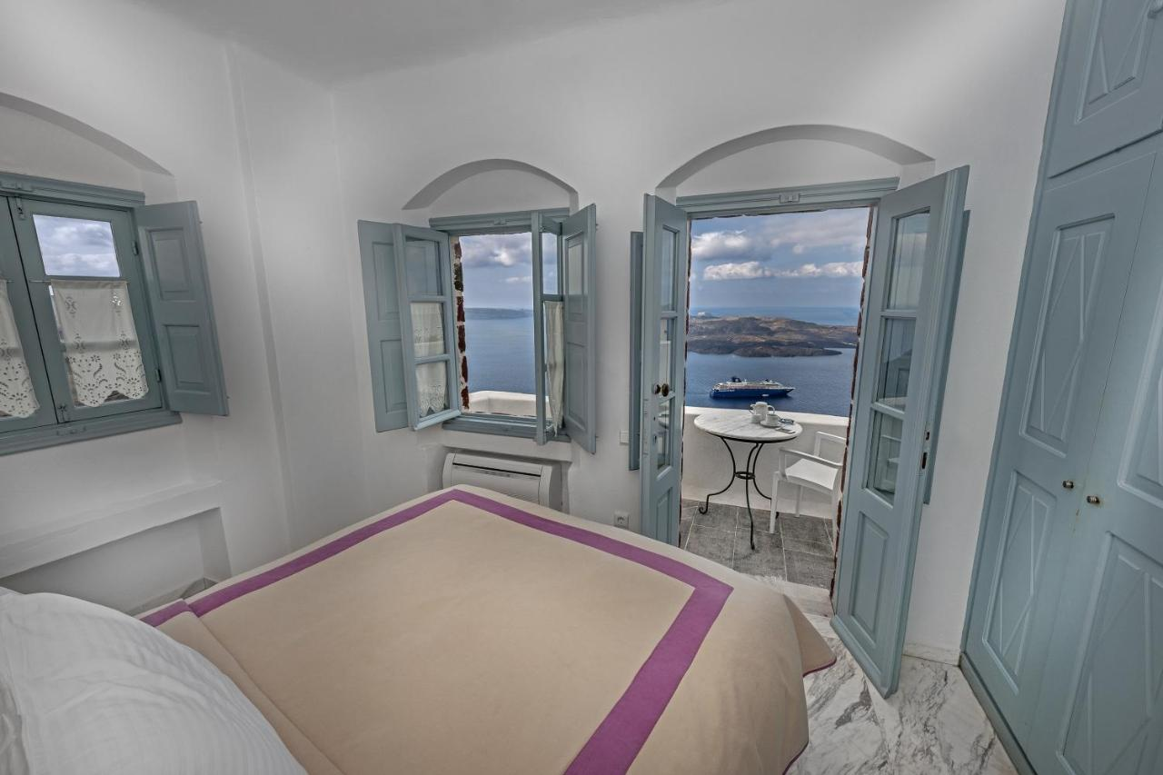 The view you will get to the Santorini Volcano from the Aigialos rooms.
