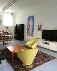 พื้นที่นั่งเล่นของ Art Apartment Winterhafen