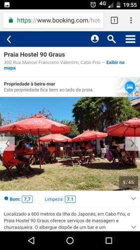 Praia Hostel 90 GRAUS